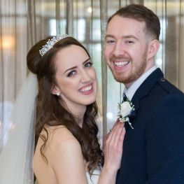 Ashleigh and Christopher are celebrating their first Valentine's Day as a married couple