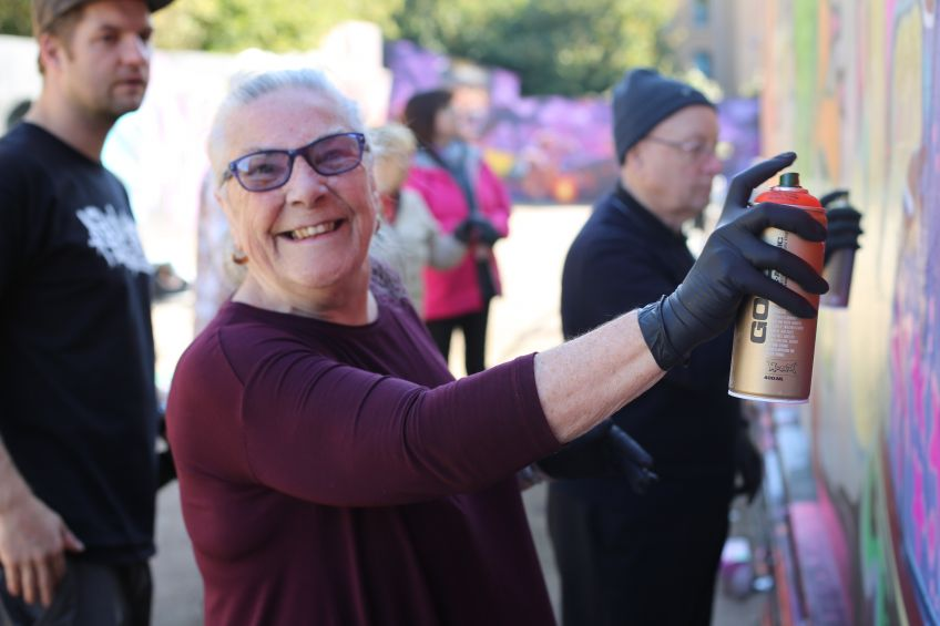 Livingwell helps people get creative with street art