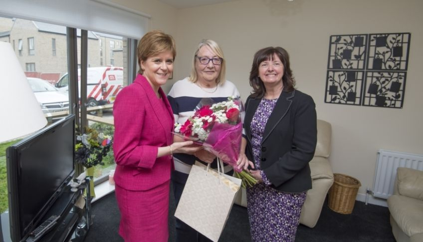 Nicola Sturgeon opened GHA's new homes in Brand Street.