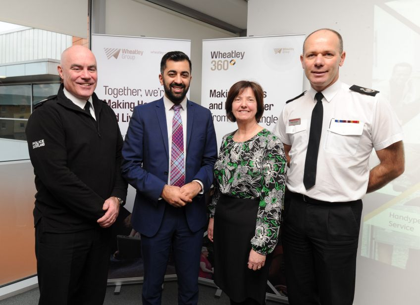 Scottish Justice Secretary Humza Yousaf helped launch Wheatley 360