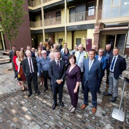 Derek Mackay MSP at the opening of the former stables at Bell Street in Glasgow