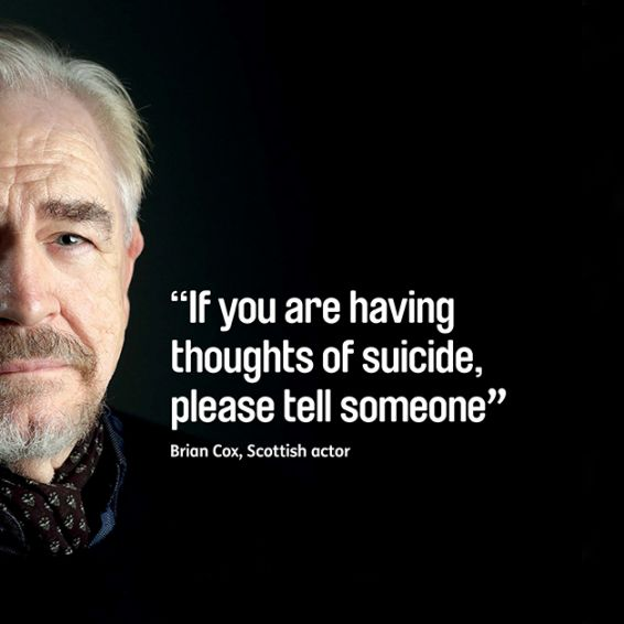 Brian Cox is supporting Suicide Prevention Week