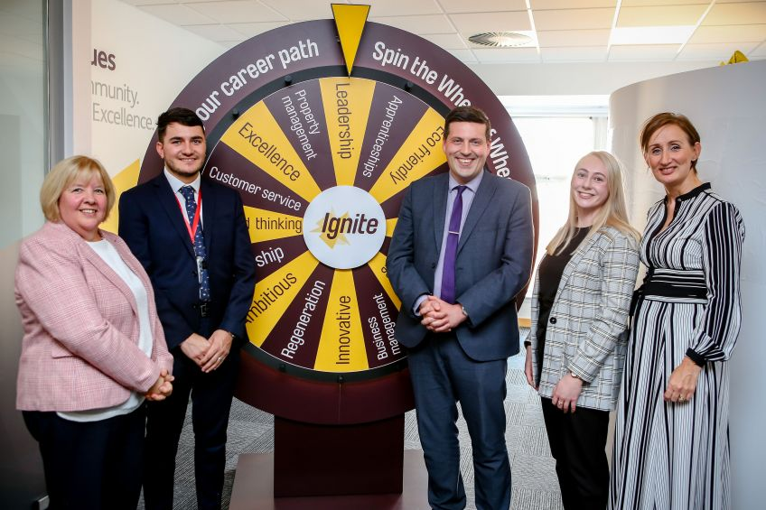 Jamie Hepburn launches Wheatley's graduate programme