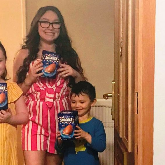 Cube tenant and family receive Easter Eggs