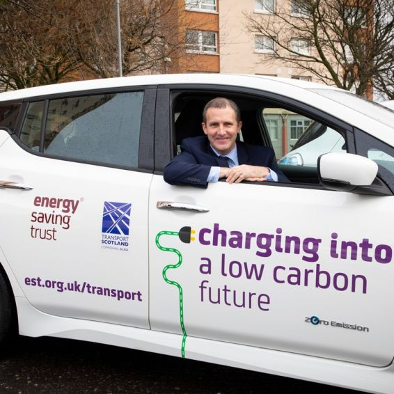 Cabinet Secretary Michael Matheson launches car share scheme