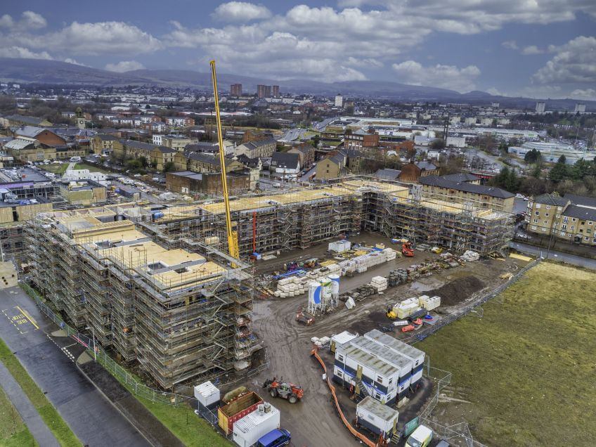 Drone images show new homes taking shape at Queens Quay Clydebank