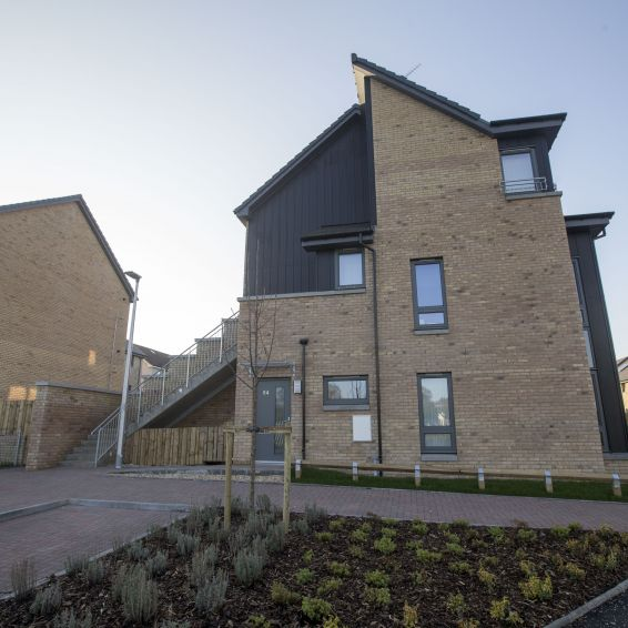 New GHA homesin Tarfside Oval Cardonald, finished earlier this year